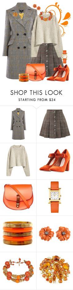 """""""Untitled #5501"""" by lois-boyce-flack ❤ liked on Polyvore featuring Karen Millen, WithChic, H&M, Nasty Gal, N'Damus, Hermès, Kenneth Jay Lane and Roberto Coin"""