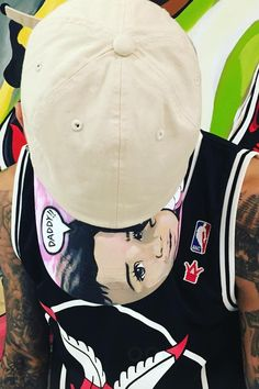 Chris Brown wearing  Ain't Nobody Cool x WSHH Chiraq Limited Edition Basketball Jersey, Off-Brand Dee Cosey Custom Royalty Cap