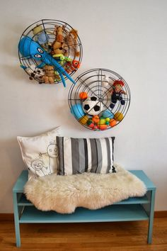 mommo design: IKEA HACKS - ALSEDA: from footrest to wall toy storage