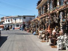 Side street shopping in Rocky Point, Mexico