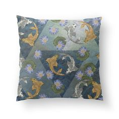 PILLOWS Fish Pillow, Buy Gold And Silver, Koi, Cushions, It Is Finished, Throw Pillows, Prints, Toss Pillows, Toss Pillows