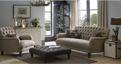 Berneray: Harris Tweed Sofa | DFS Maxi Sofa £1,099 Harris Tweed Square Footstool @ £499