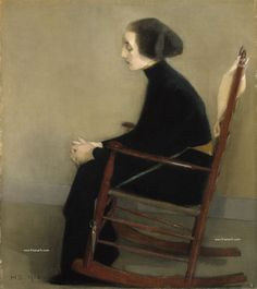 Helene Schjerfbeck, The Seamstress , 1905 x in. Helene Schjerfbeck was a Finnish painter, known for her works o. Helene Schjerfbeck, Helsinki, Finnish Women, Female Painters, Girl Reading, Art Moderne, Working Woman, Figure Painting, Painting People