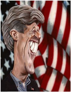 [ John Kerry ] - artist: Niall O Loughlin - website: http://www.caricatures.ie/index.php