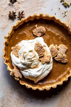 """""""If there's one thing you need today, it's a slice of this Chai Pumpkin Pie with Maple Whipped Cream. Thanks for sharing it with your fellow Half Baked Harvest! Thanksgiving Recipes, Fall Recipes, Holiday Recipes, Thanksgiving Sides, Christmas Desserts, Christmas Baking, Vegetarian Thanksgiving, Pumpkin Recipes, Pie Recipes"""