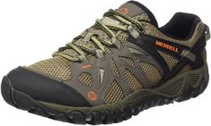Merrell Men's All Out Blaze Aero Sport Hiking Water Shoe, Khaki, 10 M US: This speed hiker attacks terrain. Its ventilated mesh upper is made for hot temps and forging creeks. Efficiency comes from the unifly™ midsole. Best Mens Water Shoes, Water Shoes For Men, Trail Shoes, Hiking Shoes, Boat Shoes, Men's Shoes, Backpacking Boots, Merrell Shoes, Comfy Shoes