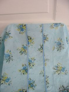 Vintage Bedspread Bedding Blue Floral Summer by vintagejane