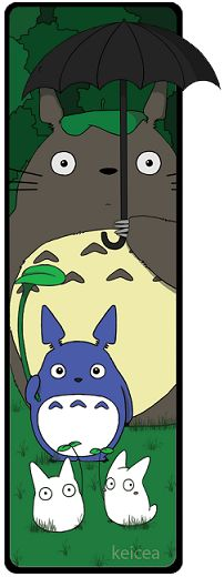 Totoro Bookmark 2 by keicea on DeviantArt