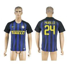 Inter Milan 16-17 #Murillo 24 Hjemmebanetrøje Kort ærmer