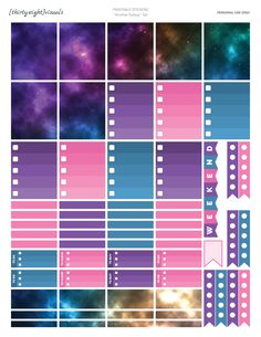 A super galactic sticker set for your Erin Condren planner!
