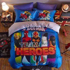 Spider-man Marvel Comic Cot BEDDING SET Rare Super Hero