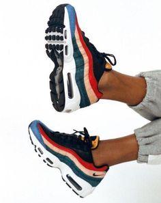 """49395945e6c2 saintlaurentlove  """"The women s Nike Air Max 95 Premium  Black Dark  Cayenne Rio Teal  """""""