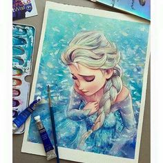 Amazing Elsa drawing.