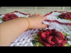 Passadeira em squares flor Caracol Crochet Mandala, Crochet Flower Patterns, Crochet Flowers, Doilies, Crochet Necklace, The Creator, Bookmarks, Facebook, Youtube