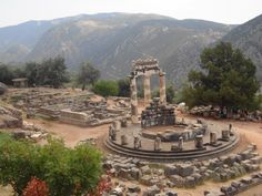 Athena's Sanctuary in Delphi. Mykonos, Santorini, Portugal, Marina Bay Sands, Big Ben, How To Memorize Things, In This Moment, Building, Travel