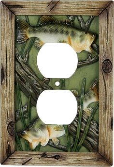 Bass Fish Receptacle Switch Plate Cover
