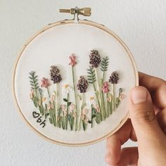 embroidery patterns & embroidery ` embroidery patterns ` embroidery inspiration ` embroidery designs ` embroidery for beginners ` embroidery stitches ` embroidery flowers ` embroidery hoop art Embroidery Hearts, Hand Embroidery Stitches, Modern Embroidery, Silk Ribbon Embroidery, Embroidery Hoop Art, Hand Embroidery Designs, Floral Embroidery, Embroidery Ideas, Garden Embroidery