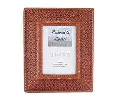 Leather gifts for men, leather picture frame 3-1/2x5, unique picture frames, rustic decor, leather decor, leather western photo frame