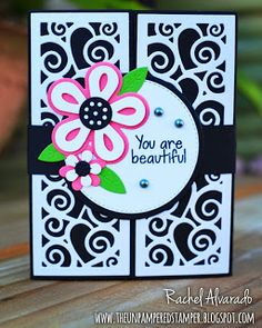 Gatefold card using the Sizzix Half Panel Dies designed by Stephanie Barnard. Sentiment from The Stamps of Life. Flowers are from Sizzix Triplits Flower Dies #3.