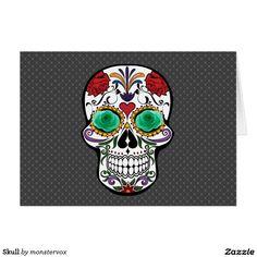 Skull Card #Skull #Holiday #Halloween #Flower #Rose #Fashion #Card