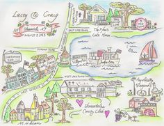 $250 Welcome to my Hand drawn Wedding maps!  I can create you a personalized wedding map for your grand event! Your map will have anywhere from 4-8 icons and areas of interest with street names and addresses for your guest to enjoy. These are drawn 8 x 10 in size and you will receive an electronic, high quality scan to use as you see fit. Once a rough draft has been created, you will have a chance to make up to three (3) icon/ placement changes before I begin inking your final piece.