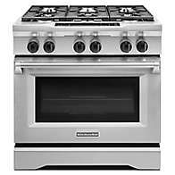 Learn about features and specifications for the 36-Inch 6-Burner Dual Fuel Freestanding Range, Commercial-Style (KDRS467VSS)
