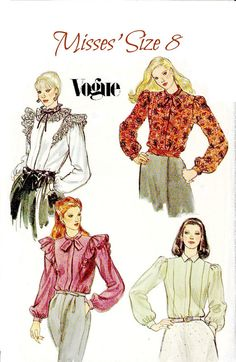 Hey, I found this really awesome Etsy listing at https://www.etsy.com/listing/160252099/80s-vogue-blouse-sewing-pattern-1982