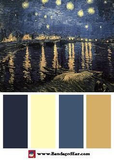 Color Palette Inspired By Vincent Van Gogh S The Starry