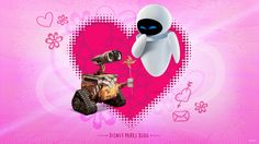 Today we're celebrating the upcoming Valentine's Day holiday with one of the more unusual Disney couples - robots WALL-E and Eve. Disney Cruise Line, Disney Trips, Disney Love, Walt Disney, Disney Stuff, Wall E Eve, Disney Valentines, Valentine Day Cards, Disney Wallpaper