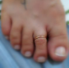 Toe Ring/Above the Knuckle Ring 14K Rose Gold Filled Handcrafted