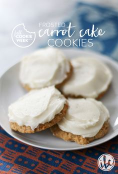 Frosted Carrot Cake Cookies | inspiredbycharm.com