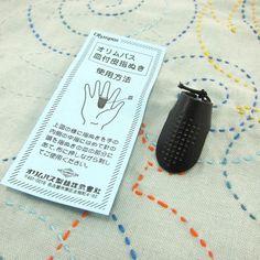 Dedal de cuero Sashiko Japonesa Olympus  hecho en por snugglymonkey
