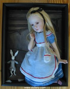 Alice Down the Rabbit Hole Jane Bradbury Collectible Dolls
