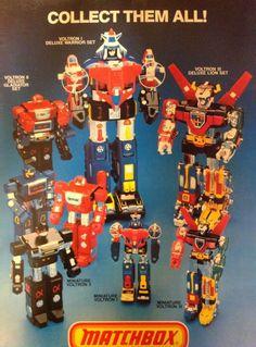 1984 Matchbox Voltron toys