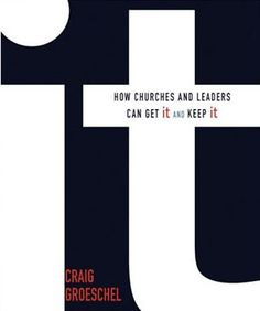 It: How Churches and Leaders Can Get It and Keep It Craig Groeschel, founder of LifeChurch.tv (Edmond, OK), witnessed a powerful presence from God that he calls It at work in many churches. What is this transformational force? How can you and your ministry get and keep It? Combining in-your-face honesty with off-the-wall humor, this lively book tells how any believer can obtain It.