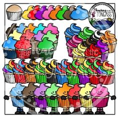 Cupcakes Clipart Bundle