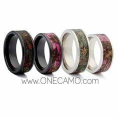 Beautiful camo wedding bands! #1camo has them for a great price! https://1camo.com/?ref=47
