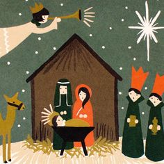 nativity cards by rifle paper co