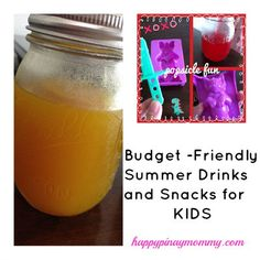 Budget Friendly Summer Activities for Kids Part 2 - Happy Pinay Mommy Weekly Menu Planning, Meal Planning, Kids Part, Kids Series, Summer Activities For Kids, Best Budget, Summer Drinks, Budgeting, Snacks
