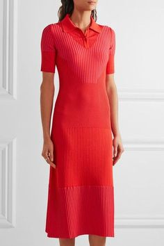 Maison Margiela - Ribbed Stretch-knit Midi Dress - Red - x small