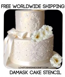 This is a selection of superb product specifically made for cake decorating and Damask Cake, Damask Decor, Cake Stencil, Damask Stencil, Dummy Cake, Cake Mold, Cutting Edge Stencils, Martha Stewart, Wedding Cake Cookies