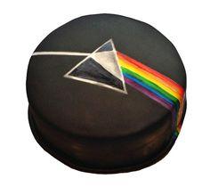 Pink Floyd - Dark Side of the Moon Birthday Cake - Cake by VikkiCakeDiddly