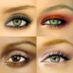 I love the red with the copper metallic on the undereye! sooo pretty. actually all of these are awesome!