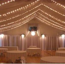 decorate a gym for a wedding - with Beautiful White Tulle by the Yards!