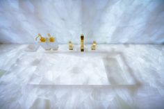 Caesarstone Puro 8141 backlit pure white Onyx countertop | 2012 Eurocucina Exhibition-Milan