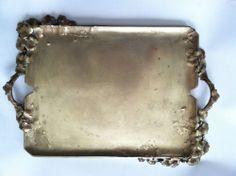 Antique c1870 Susse Freres, F. Debon, French Tray Gilt Dore Brass, Art Nouveau #SusseFreresParisFoundry