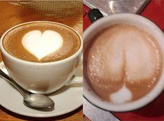 Romantic butt-shaped coffee foam. Nailed it.