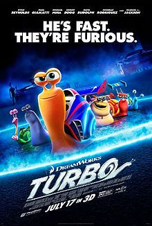 Turbo is a animated comedy film directed by David Soren and produced by DreamWorks Animation. It tells the story of an ordinary garden snail who takes on a challenge of winning the Indy The film features the voice of Ryan Reynolds, Maya Rudol. Kung Fu Panda, Ryan Reynolds, Turbo 2013, Snoop Dogg, Triste Disney, Films Hd, Ken Jeong, Bon Film, I Love Cinema