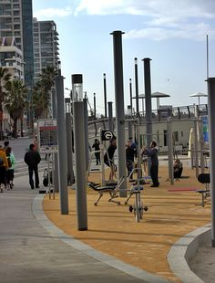 Tel Aviv beach gym #telavivbeach