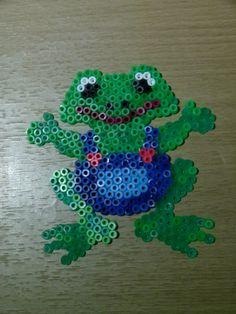 Frog hama beads by Jacky Smith